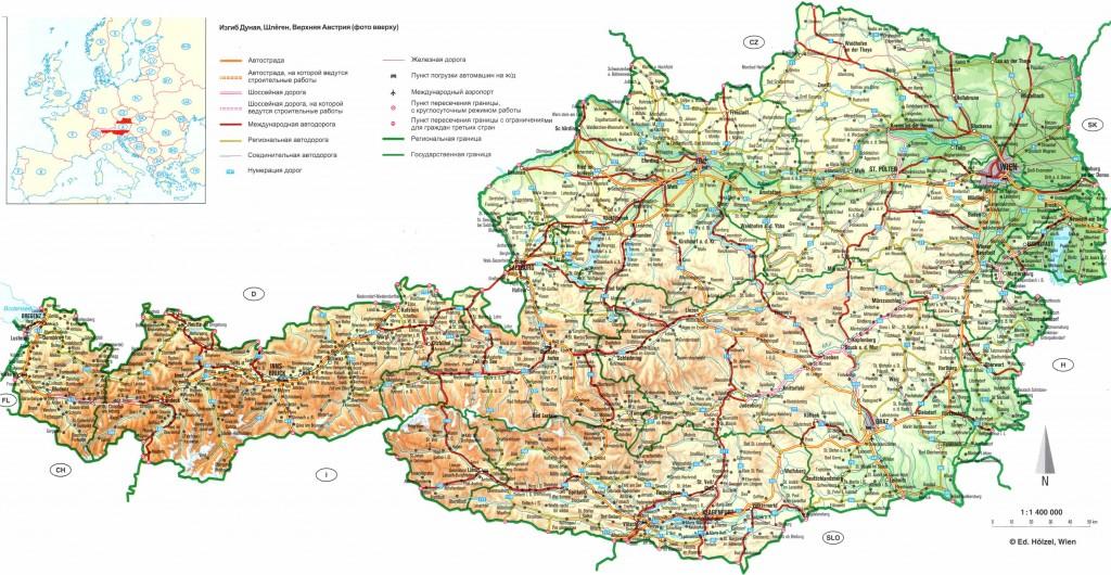 Карта Австрии